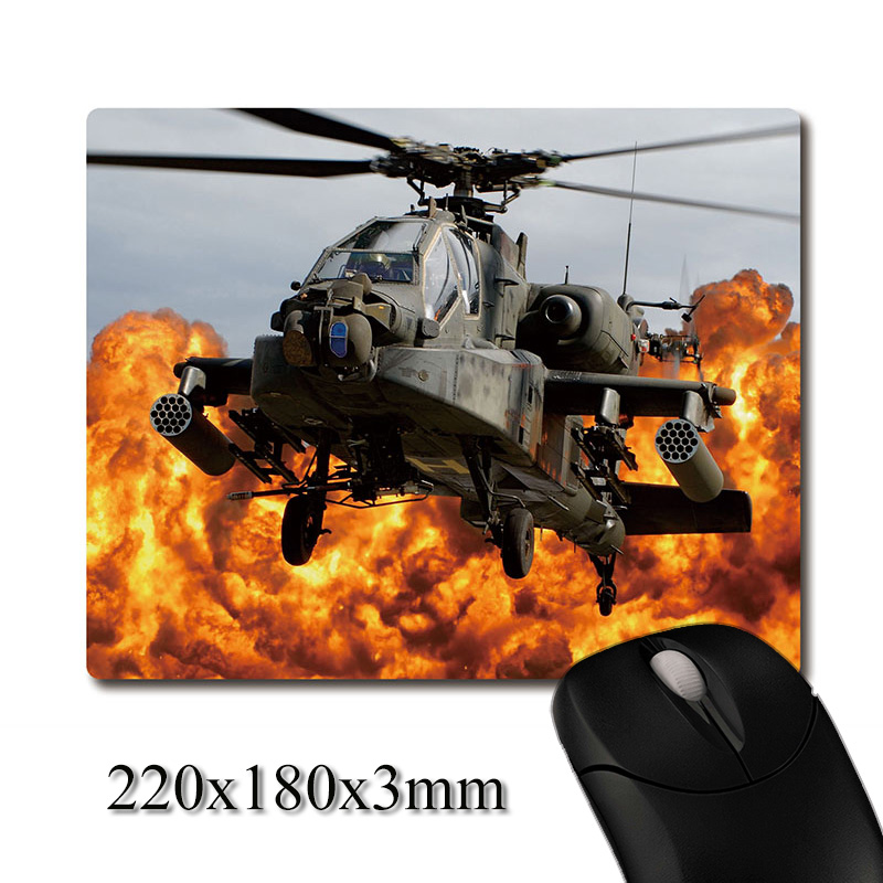 Apache helicopter gunships of the war image printed Heavy weaving anti-slip rubber pad office mouse pad Coaster Party favor gift
