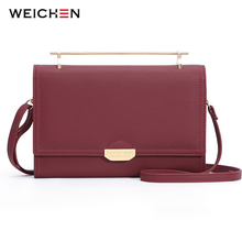 WEICHEN Small Shoulder Bag Women Metail Hangle Many Departments Ladies Mini Handbag Sec Female Slim Messenger High Quality