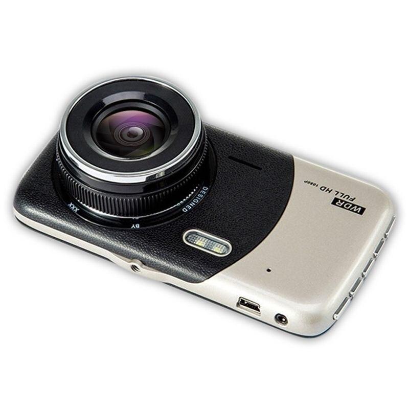 4-дюймовый ЖК IPS Двойной объектив Автомобильный видеорегистратор FHD 1080P приборная панель камера 170°вождение DVR