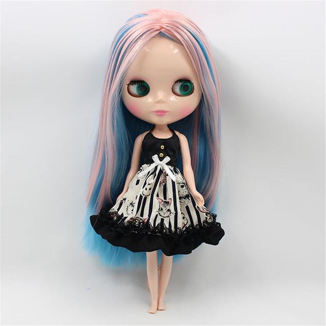 Fashion Sleeveless Black Dress For 1/6 Doll
