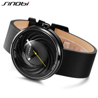 SINOBI New Fashion Creative Sports Men Watch Japan Quartz Genuine Leather Design Casual Wristwatch Clock Reloj