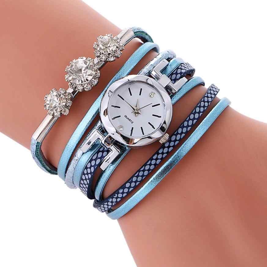 Reloj de pulsera de mujer Moment # N03, reloj de Círculo de Diamante, reloj de estudiante de moda, vestido de piel, reloj de mujer, regalos, reloj femenino