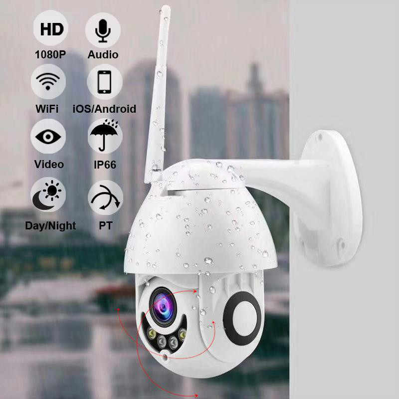 Outdoor Wireless IP Camera security 360 Degree 2MP 1080P HD 5DB Two Way Audio Night Vision Waterproof Motion Detection alarm