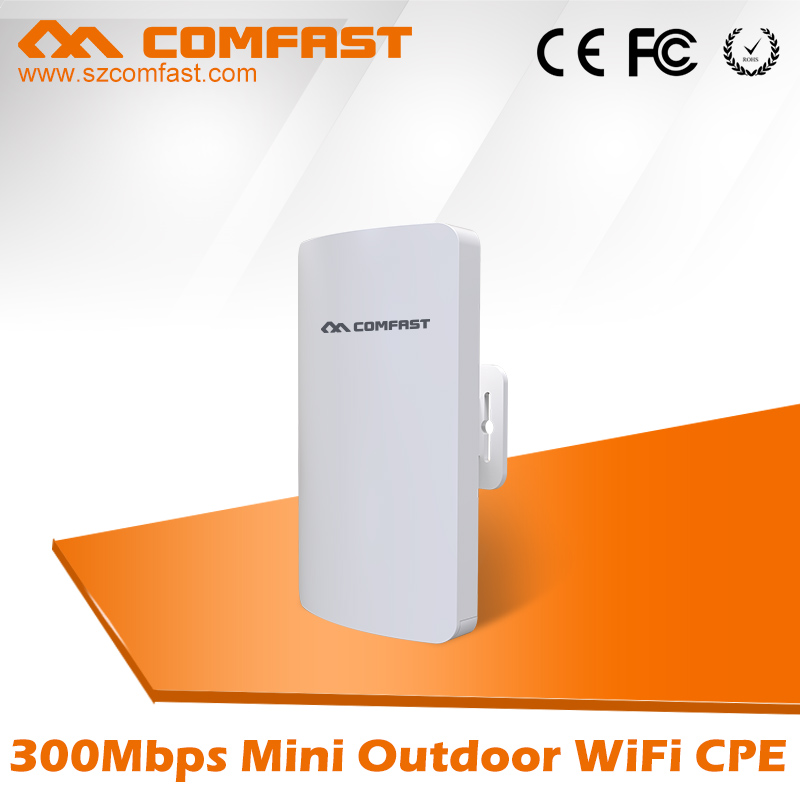 300Mbps mini outdoor wireless cpe comfast wifi extender repeater&network bridge for remote wifi signal transmission/receiving
