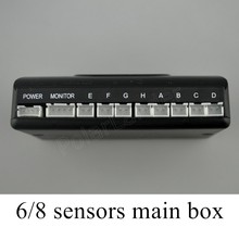 Nuovi Sensori di Parcheggio 6/8 sensori di dialogo principale per Auto Inversione di Sostegno Del Radar system sensor 12 V car styling