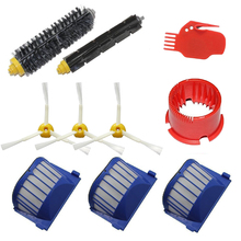 10pcs AeroVac Blue Filters Bristle Brushes Flexible Brushes Cleaning for iRobot Roomba 600 610 620 625 630 650 660 Series