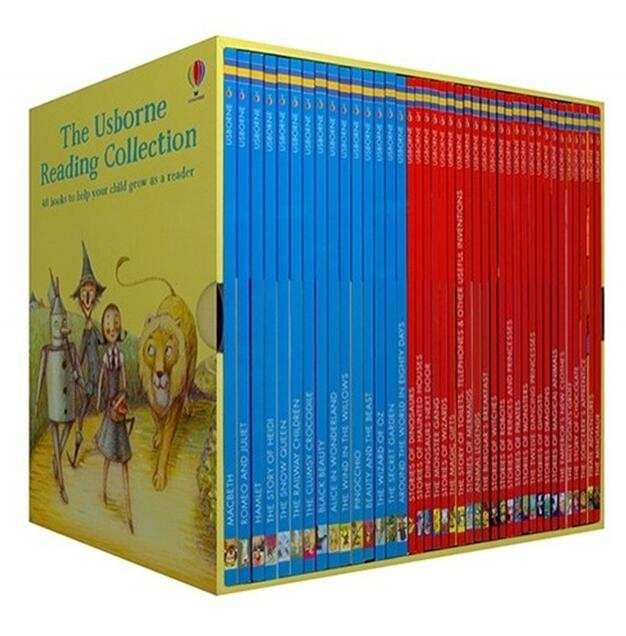 40 Books/set Usborne My Third Reading Collection Library English Picture Story Books To Help Your Child Grow As A Reader