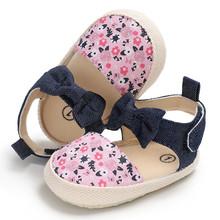Emmababy 2018 przypadkowi buty dla dzieci nowonarodzone chłopcy dziewczyna Unisex szopka Slip On miękkie podeszwy buty Prewalker 0-18M tanie tanio Wiosna jesień Płótno Drukuj Płytkie Hook loop RUBBER Pasuje prawda na wymiar weź swój normalny rozmiar Crib shoes