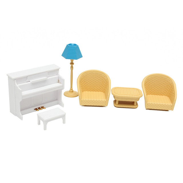 DIY Miniature Doll House Living Room Furniture 6 pcs Set