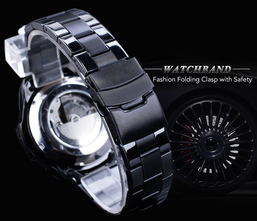 HTB14hpSbcnrK1RjSspkq6yuvXXaJ Forsining Three Dial Calendar Stainless Steel Men Mechanical Automatic Wrist Watches Top Brand Luxury Military Sport Male Clock