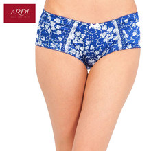 Woman's Briefs Satin Floral Printing White with Black Blue with White Large Size S M L ARDI Free Delivery S2021-23