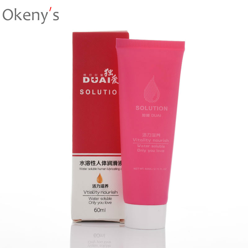 DUAI Vitality Nourish Lubricant for Anal Sex Causative Agent for Woman Gay Sex Toys Adult Product Body Oil for Massage 60ml(China)