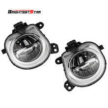 63177317252 63177317251 Pair Front Bumper Right Left Fog Light Lamp LED For BMW X3 F25 X4 F26 X5 F15 F85 X6 F16 2014 2015 2016
