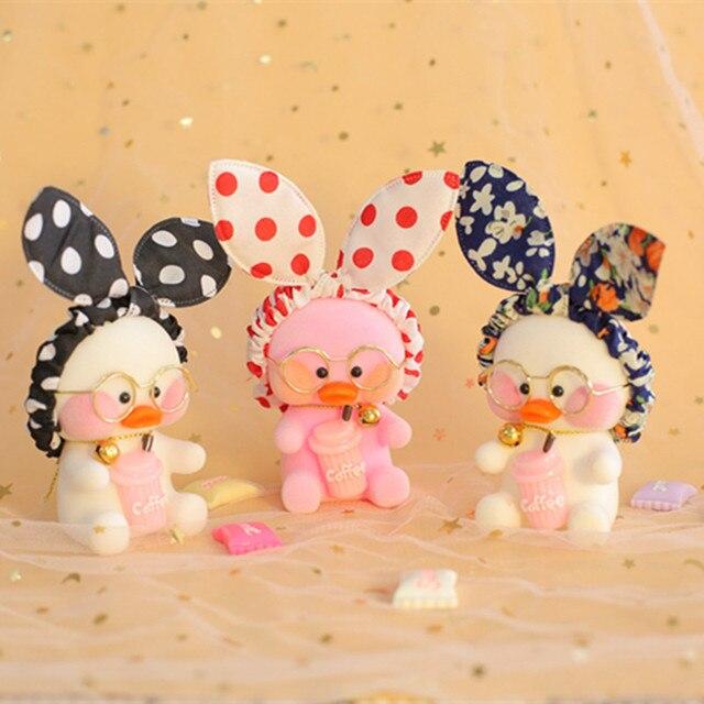 10 centímetros Kawaii Pato Pingente Keychain Dos Desenhos Animados Pato Bonito Decoração Do Carro Bonecas Animais Brinquedos Menina Presente de Aniversário Para Crianças