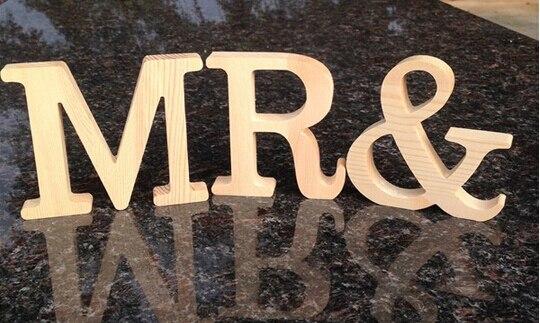 10 см свободно стоящий деревянный деревянные буквы для Домашний Декор Свадебные Аксессуары со дня рождения партии знак столешницы настояще...