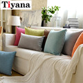 Thick Linen Fabric Pillow Large Cushion Sofa Office Bed Pillowcase Lumbar Pillow Simple Solid Color Back Customization BZ004-30