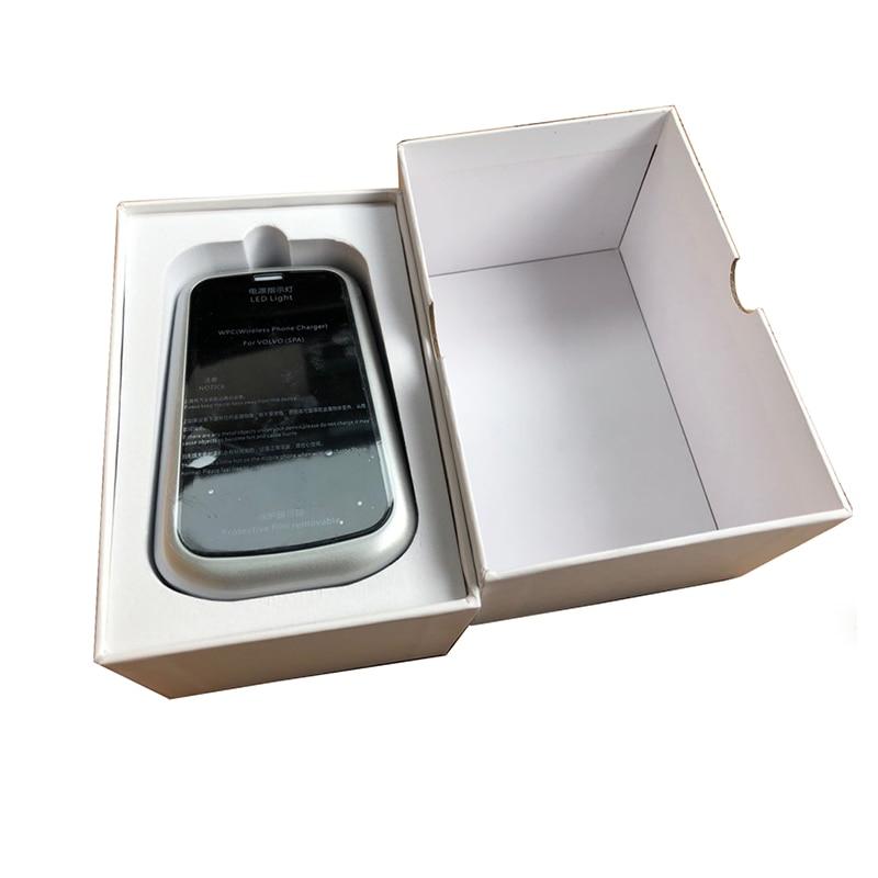 Для Volvo XC60 V60 S60 XC90 V90 S90 автомобильное беспроводное зарядное устройство QI чехол для зарядки телефона автомобильные аксессуары - Название цвета: For S90 V90 18-19