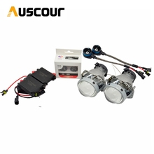 3.0 inch hella 5 car Bi xenon hid Projector lens car assembly kit with AC xenon kit ballast D2S xenon bulb conversion kit Modify