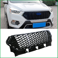 For Ford Escape Kuga 2017 2018 FRONT BUMPER Honeycomb RACING GRILL GRILLS Replacement COVER MASK MODIFED Car Styling Auto Parts