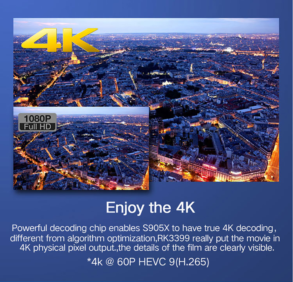 H96Pro-H3 4 K Full HD Tv Stick Amlogic S905X Quad Core Android 7.1 OS 2G 16G MINI PC Smart TV Box 2.4G + 5G Wifi BT4.0 TV dongle - 3