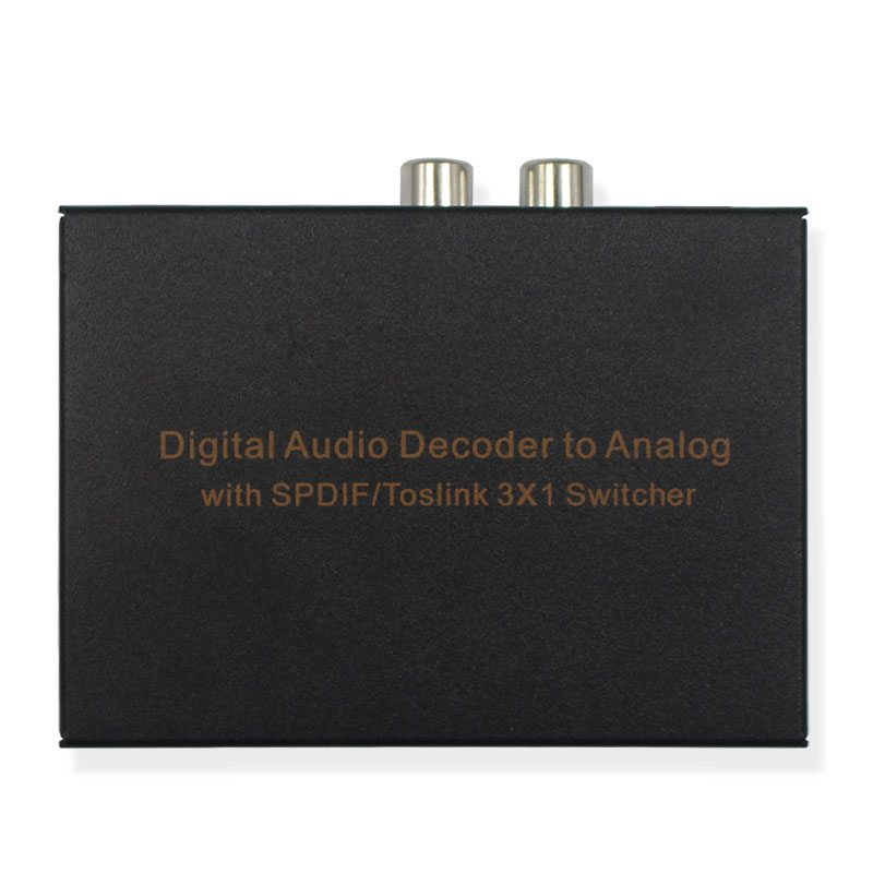 Digital to Analog Audio Decoder with SPDIF/Toslink 3X1 Switch Support 5.1-Channel Audio,SPDIF+L/R+ Spdif Headphones Audio delicate love delicate love de019ewivj76