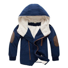 Boys Jacket Coat 2018 Autumn Winter Kids Casual Clothes Boys Warm Hooded Wool Coats For Children Outwears 4 6 8 9 10 11 12 Years