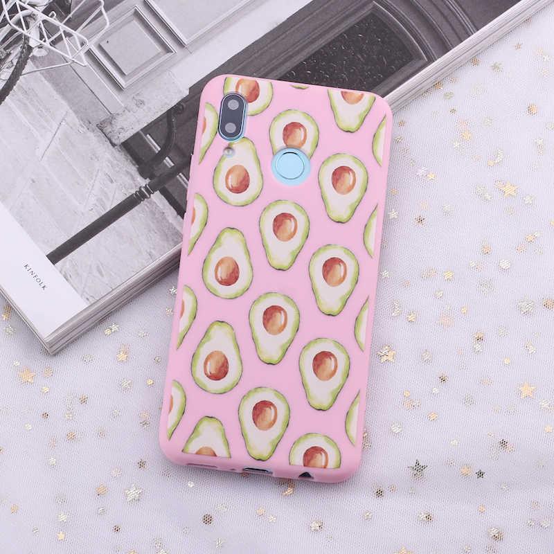 لسامسونج S8 S9 S10 S10e زائد ملاحظة 8 9 10 A7 A8 لطيف الأفوكادو الكرتون الفن الحلوى سيليكون غطاء إطار هاتف محمول كابا Fundas كوكه