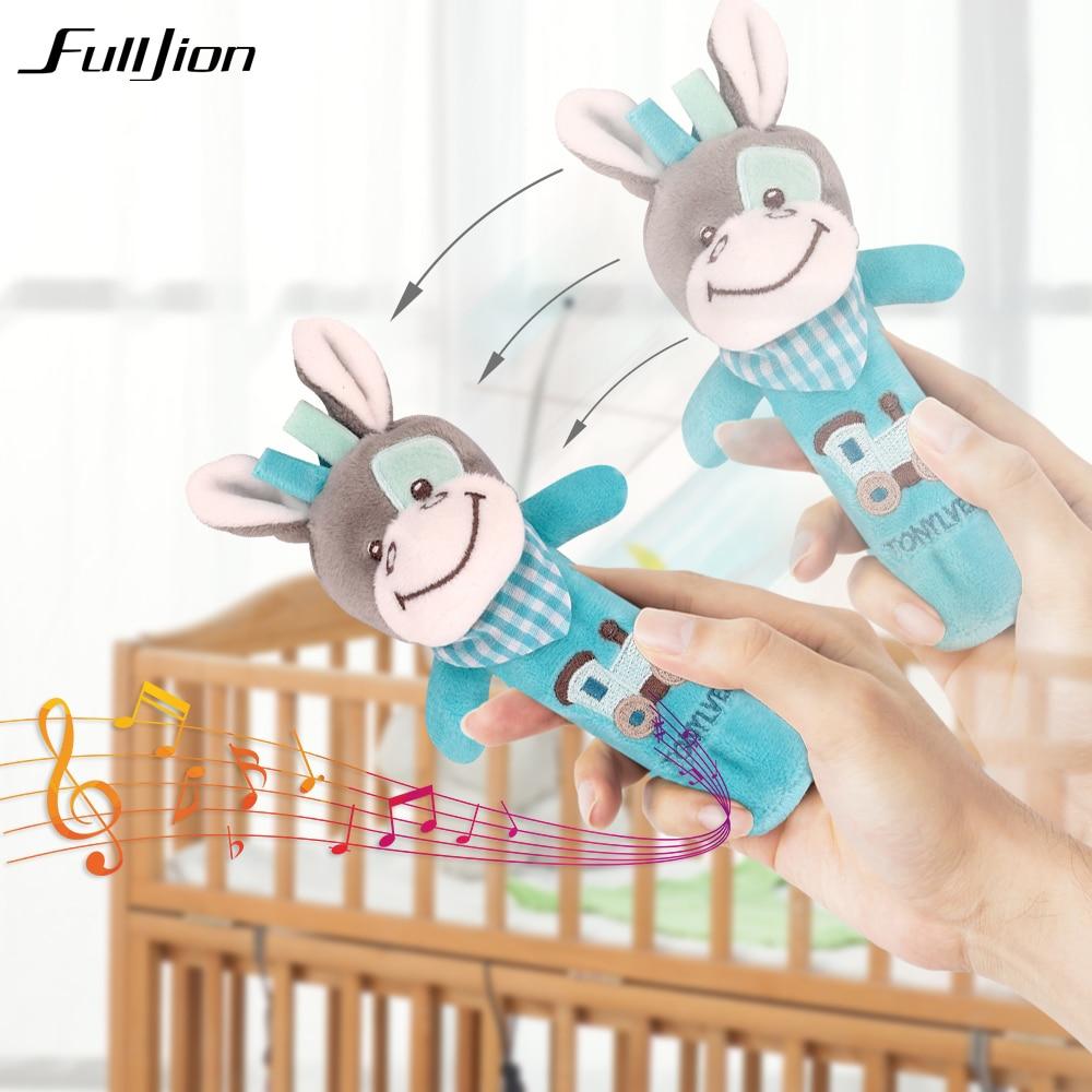 Fulljion Baby Plush Stroller Toys For Baby Rattles Mobiles For Crib Musical Stroller Doll Stuffed Animal Plush Popular Soft Pony