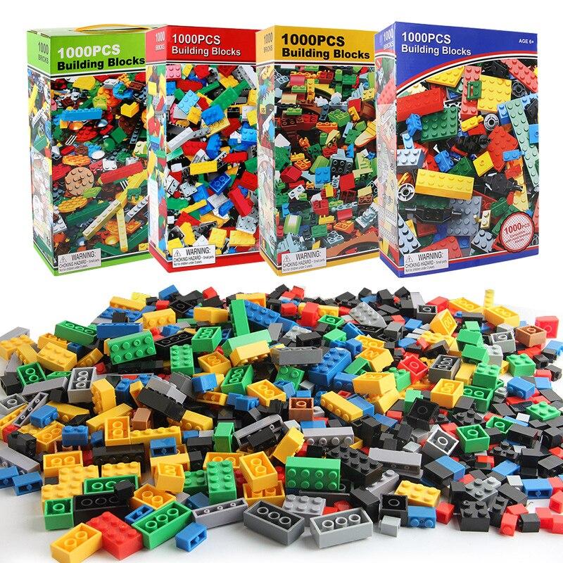 1000 pçs diy blocos de construção tijolos figuras educacional criativo compatível com legoe brinquedos para crianças crianças presente aniversário