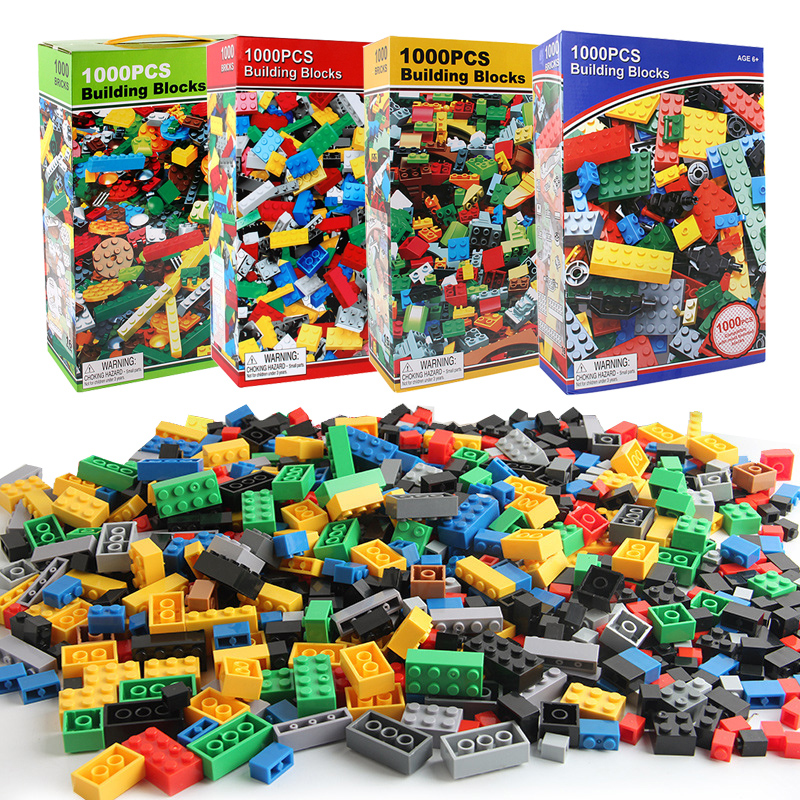 1000PCS DIY Building Blocks Bricks Figures Educational Creative Compatible With Legoe Toys For Children Kids Birthday Gift
