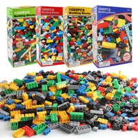 1000PCS DIY Building Blocks Bricks Figures Educational Creative Compatible With Legoe Toys for Children Kids Birthday Gift