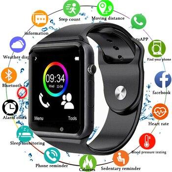 New 2019 Bluetooth Smart Watch Men Sport Wristwatch Support 2G SIM TF Camera Smartwatch For Android Phone PKGT08 DZ09 Q18 Y1 V8