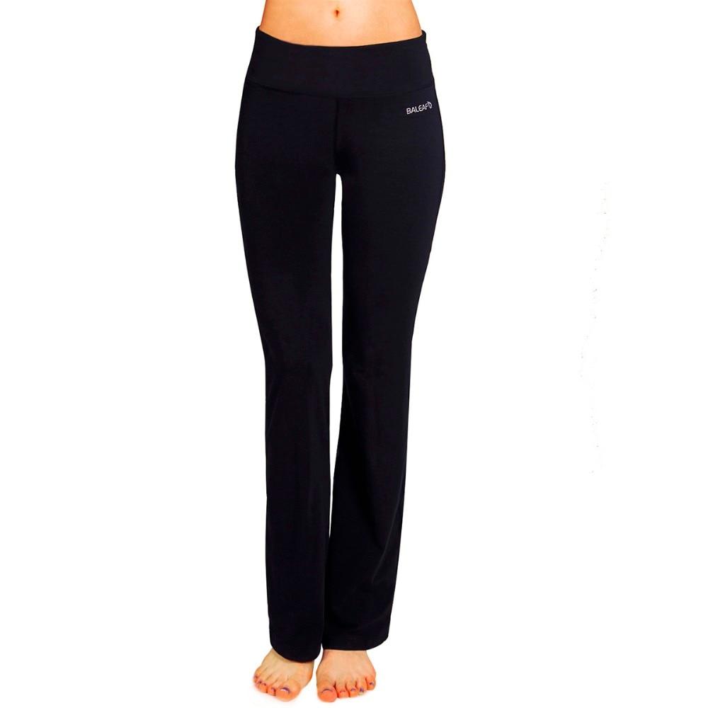 Aliexpress.com : Buy Baleaf Women's Black Bootleg Yoga Pants W ...