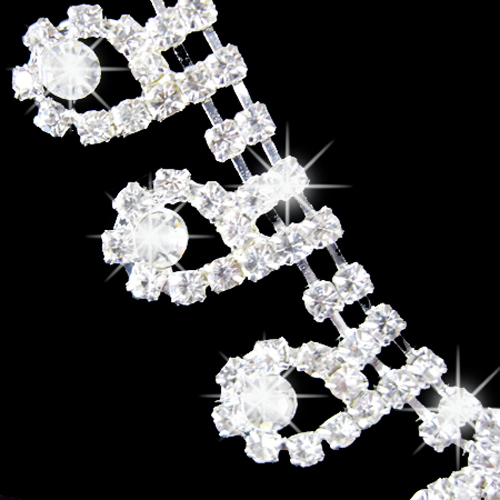 Fashion 2015 hot Women's Bridal Romantic Dazzling Rhinestone Wedding Party Pendant Necklace Teardrop Earrings Bling Jewelry Set 3