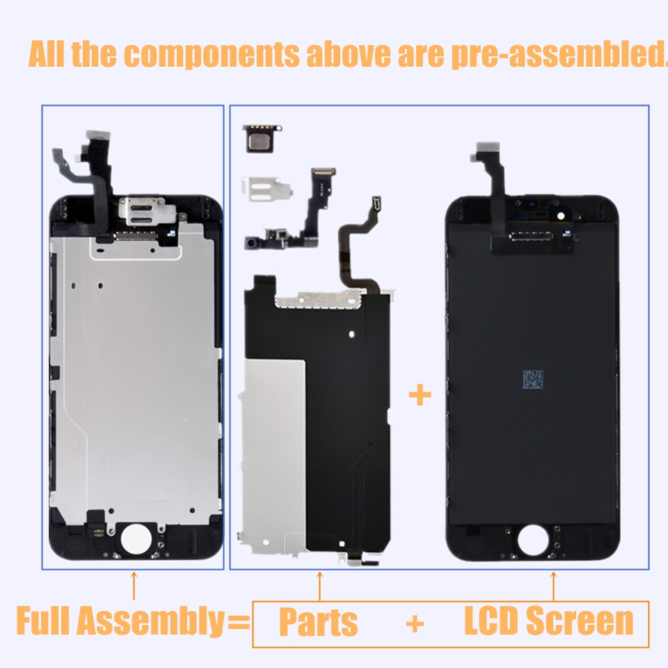 Grade AAA LCD For iPhone 7 Plus 7plus OEM LCD Display Full Set Digitizer Assembly 3D Touch i Phone 6 7p Screen Replacement in Mobile Phone LCD Screens from Cellphones Telecommunications