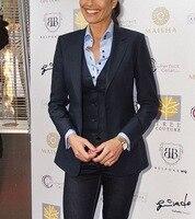 Notch Lapel 3 Piece Women Ladies Business Office Tuxedos Formal Work Wear Suits Custom Made Bespoke 3 Piece New