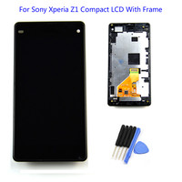 LCD Display Touch Screen Digitizer assembly With Frame For Sony Xperia Z1 Mini Compact D5503 Z1C M51w Free Shipping Black