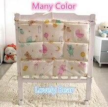 Promotion Cartoon 62 52cm Baby Bed Hanging Bag Storage Bag Newborn Crib Diaper And Toys Pocket