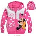 Детская куртка для девочек с длинным рукавом и изображением Минни Маус