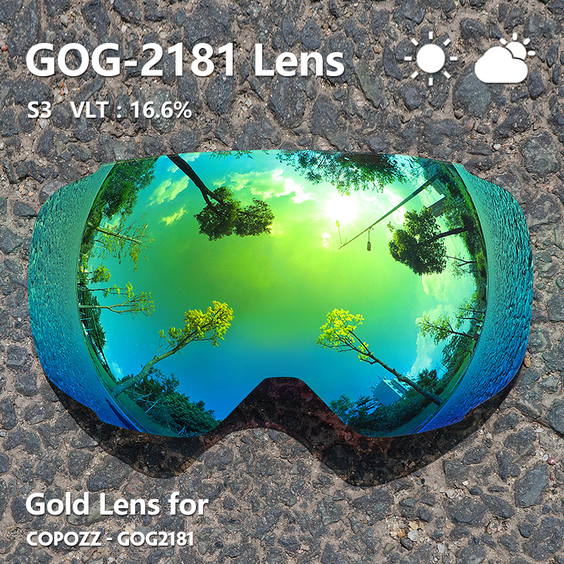 Image 5 - COPOZZ Magnetic Lenses for ski goggles GOG 2181 Lens Anti fog UV400 Spherical Ski glasses snow Snowboard goggles(Lens only)-in Skiing Eyewear from Sports & Entertainment