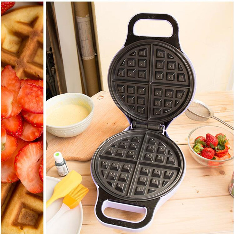 220V Multifunctional Electric Waffle Maker Household Automatic Electric Pancake Machine Breakfast Machine EU/AU/UK/US Plug