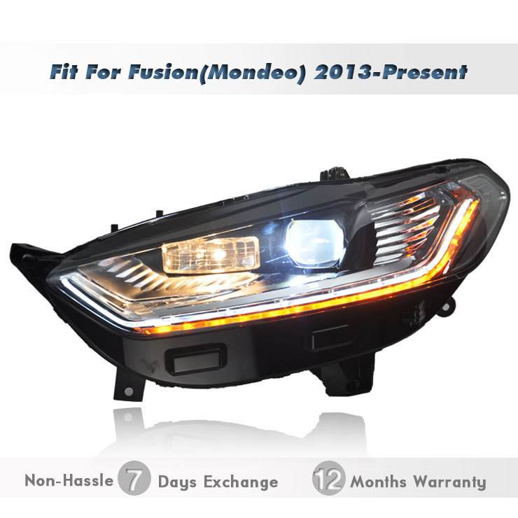 Replacement Xenon Projector    Headlights    Headlamp with LED
