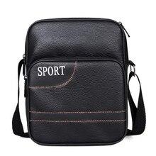 High Quality PU Leather Man Bags Casual Men Messenger Bag Brand Design Travel Crossbody Shoulder Bag For Man  LJ-856