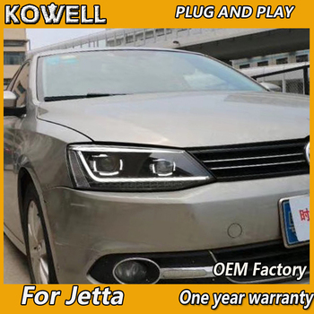 KOWELL Car Styling For VW JETTA MK6 2011 2012 2013 2014-2017 Headlights LED DRL+ high beam LED + Light Dynamic turn signal