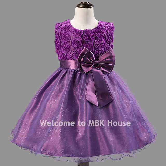 Frock designed 2 10 years old girl princess flower evening dress for