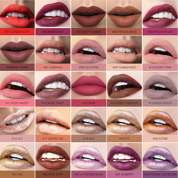 Focallure glitter Matte Liquid Lipstick 25color Lip gloss Lip Tint Cosmetic Lipstick not sticky Sexy Nude Makeup 1