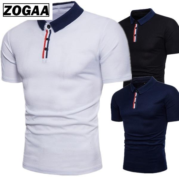 New men's fashion solid color large size   Polo   shirt