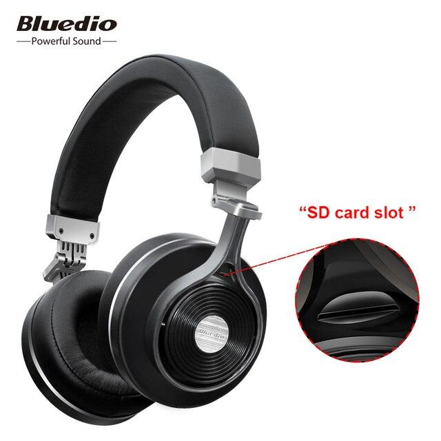 Bluedio T3 Plus ( Turbine 3rd ) Auriculares Bluetooth Inalambricos con Micrófono Incorporado y Ranura de tarjeta Micro-SD