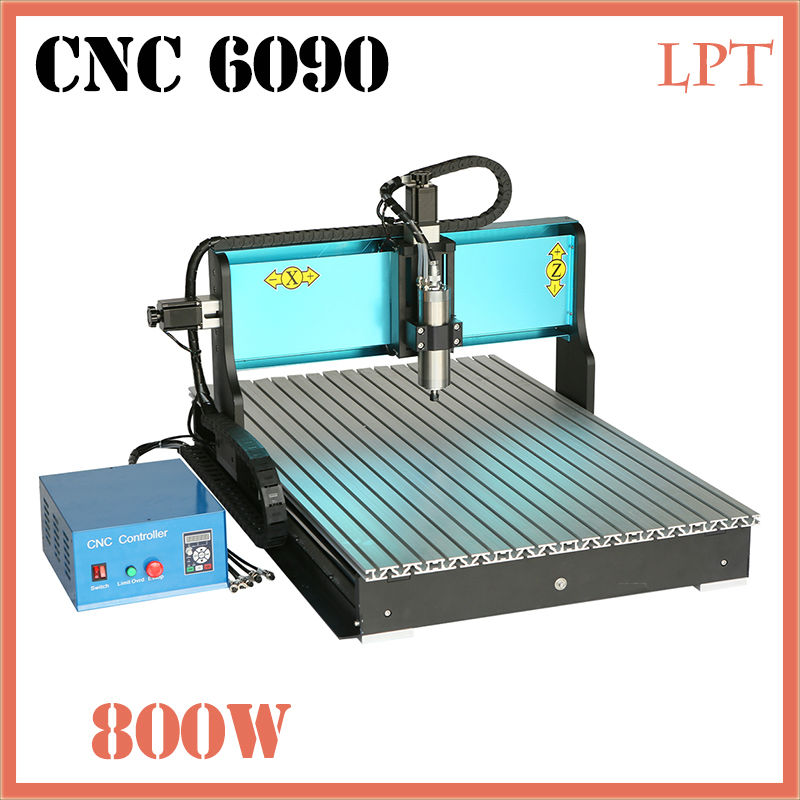 Free DHL FT High Speed 3 Axis 800W Affordable CNC Router with Parellel Port Precision Drilling Machine for Woodworking 6090  jft new arrival high speed 4 axis 800w affordable cnc router with usb port precision drilling machine for woodworking 6090