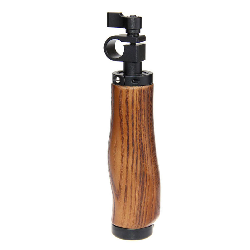 CAMVATE 15mm Rod Clamp Video Action Stabilizing Wooden Handle Grip for Canon Sony DSLR Camera Support Shoulder Rig C1268 camvate dslr handle camera grip wooden handgrip right hand for arri alexa extender arm shoulder support system c1321